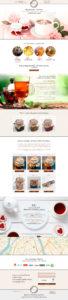 Дизайн Landing Page для сладостей